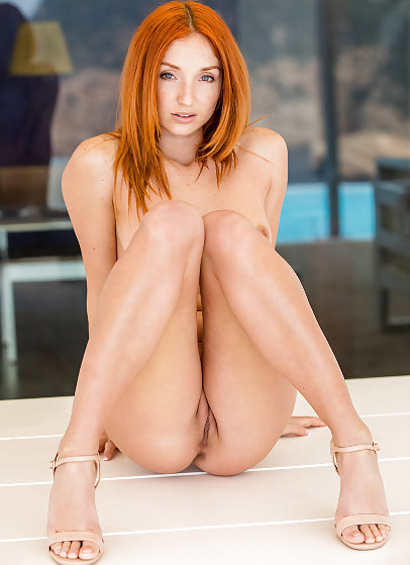 Red Fox Sexy Redhead With a Shaved Slit